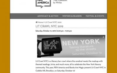 Lit Crawl NYC 2019 – Autumn Leaf reading!